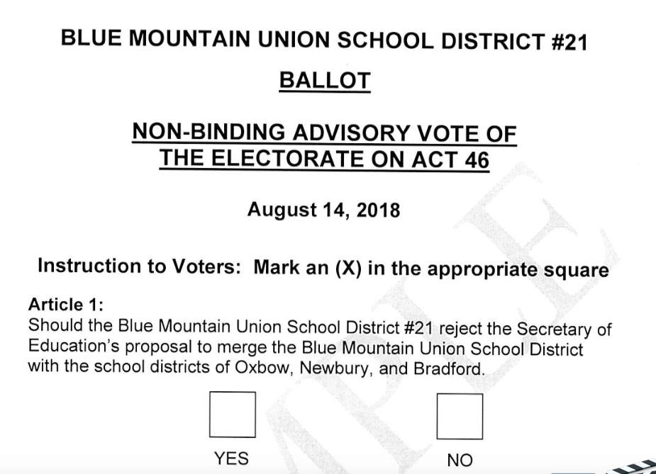 Ballot for Non-binding Vote of the Electorate